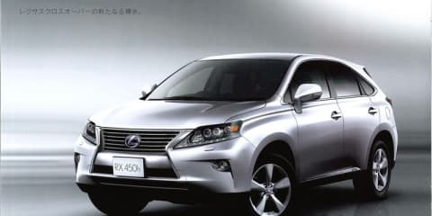 Lexus RX facelift revealed in leaked brochure images