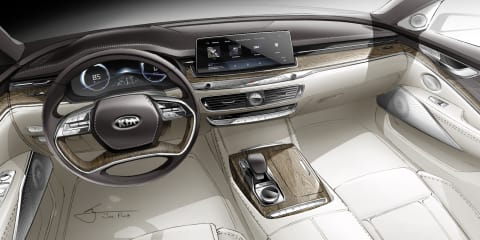 2019 Kia K900 interior sketched