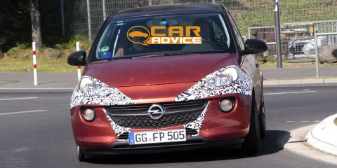 Opel Adam OPC: potential performance mini spied