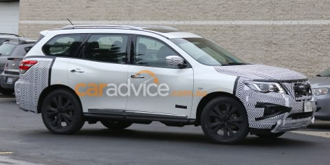 2016 Nissan Pathfinder spied testing
