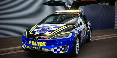 Tesla Model X joins Victorian Highway Patrol fleet