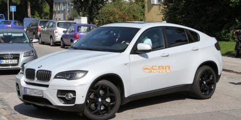 2012 BMW X6 facelift spy shots