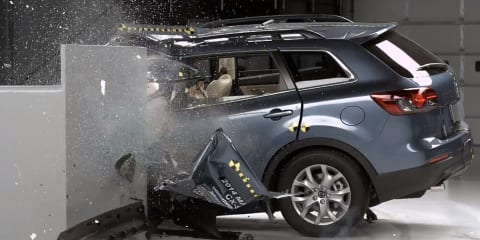 Popular large SUVs struggle in small overlap front crash test