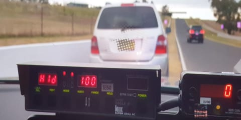 Yes, you can get booked speeding in a road works zone. Just ask this guy