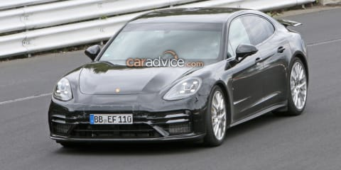 2021 Porsche Panamera Turbo spied at Nurburgring