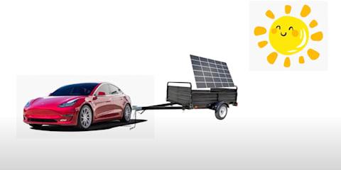 Solar-powered Tesla Model 3 takes 10 days to recharge