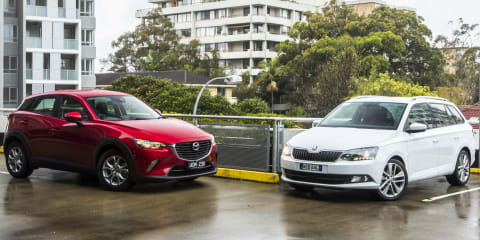 Mazda CX-3 v Skoda Fabia Wagon Comparison Review