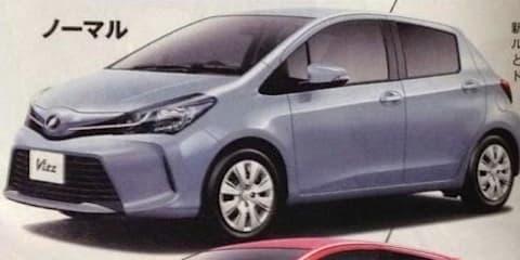 Toyota Yaris facelift leaked