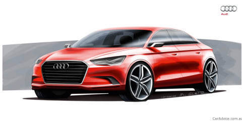 Audi A3 sedan concept sketches revealed before Geneva