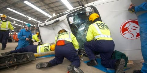 Holden: 70 cars cut and crushed for road rescue training challenge