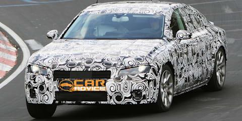 2011 Audi A7 spy photos, testing at Nürburgring