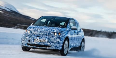 BMW i3 prototype carves up the snow