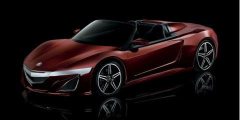 Acura NSX Roadster from The Avengers teases open-top sports car