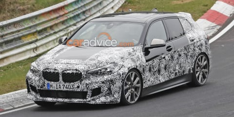 2020 BMW M135i xDrive spied at the 'Ring