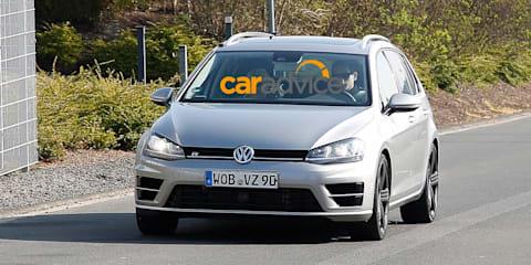 Volkswagen Golf R wagon spied