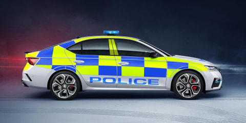 2021 Skoda Octavia RS shown in UK police livery