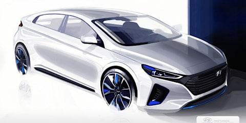 Hyundai Ioniq teased further