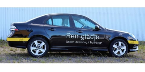 NEVS unveils Saab 9-3 EV prototype
