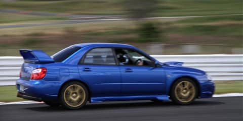 Subaru WRX on Track at Lakeside