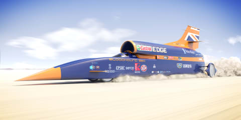 Bloodhound SSC sprints from 0-338km/h in 8.0 seconds
