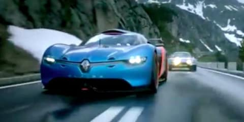 Renault Alpine A110-50: supercar concept cuts through alps