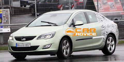 Opel Astra sedan spy shots