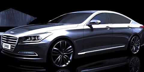 Hyundai Genesis sedan: official renderings reveal exterior design