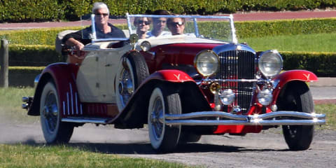 Leonardo DiCaprio driving $3M 1929 Duesenberg on set of The Great Gatsby in Australia