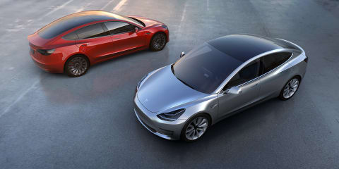 Tesla Model 3 unveiled, Australian debut due 2018
