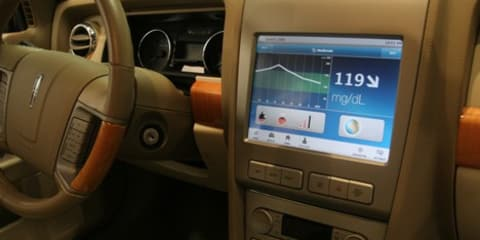 In-car blood sugar level monitor for diabetes sufferers