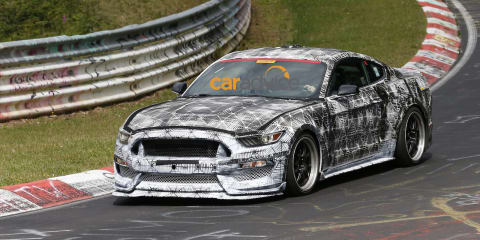 Ford Mustang Shelby GT500 successor spotted at the Nurburgring