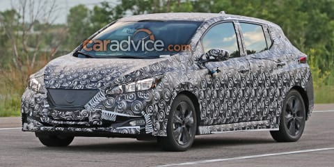 2018 Nissan Leaf spied in production body