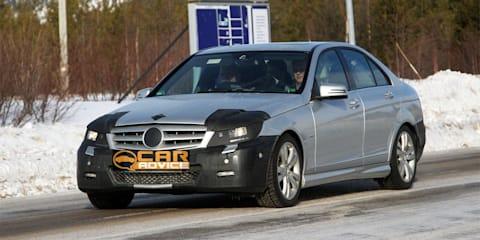 Mercedes-Benz C-Class facelift spy photos