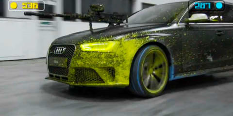 Audi RS4 Avant paintball war