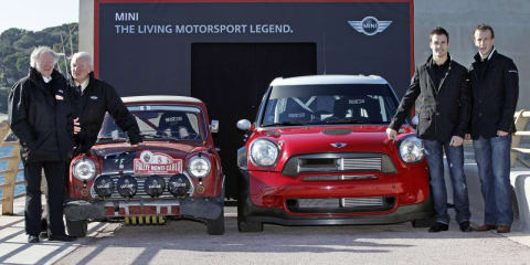 MINI Countryman WRC car joins original Mini Cooper at Monte Carlo