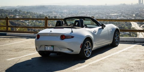 Exploring Mulholland Drive:: Top down in LA in a Mazda MX-5