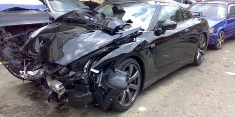 Another Nissan GT-R Totaled
