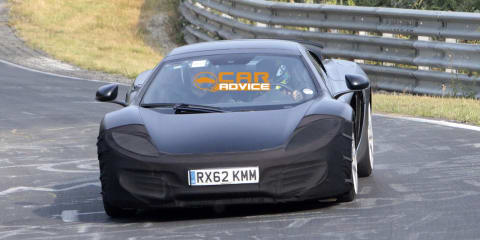 McLaren P13: Audi R8 rival hits the track