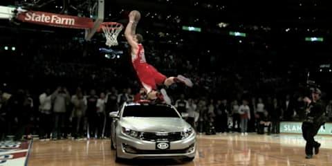 Video: Blake Griffin slam-dunks over a Kia Optima
