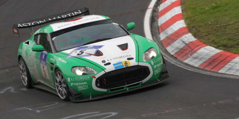 Aston Martin V12 Zagato in class lead after 9 hours
