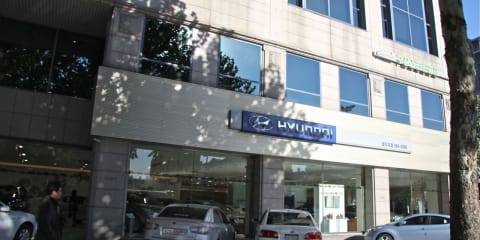 Hyundai mega dealership in Daechi, Seoul