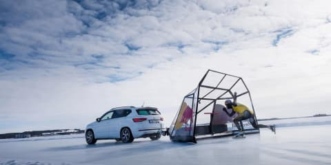Seat supports speed skating record run - Video