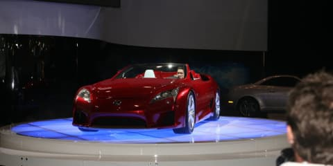 Lexus LF-A Roadster concept on show at MIMS