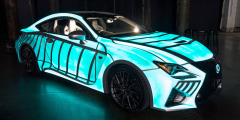 Lexus RC F with heartbeat displaying paint unveiled