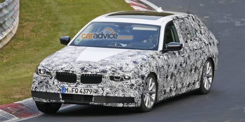 2016 BMW 5 Series wagon spied inside and out