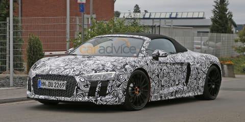 2016 Audi R8 Spyder spy photos