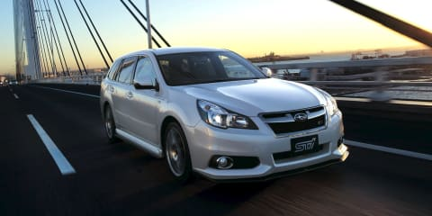 Subaru Legacy Touring Wagon, Legacy B4 sedan STI models released