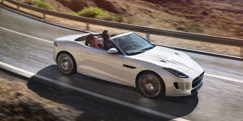 Jaguar F-Type updated: Electric power steering standard; manual, AWD optional