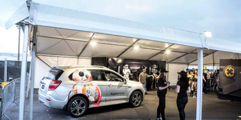 2016 Holden Captiva makes public debut at Star Wars:: The Force Awakens fan event