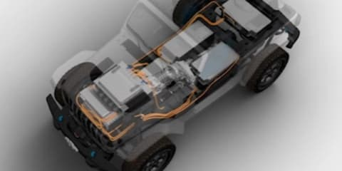 Electric Jeep Wrangler concept teased – UPDATE: Magneto name confirmed